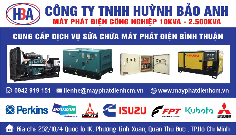 Dịch vụ sửa máy phát điện tại tỉnh Bình Thuận và các tỉnh lân cận