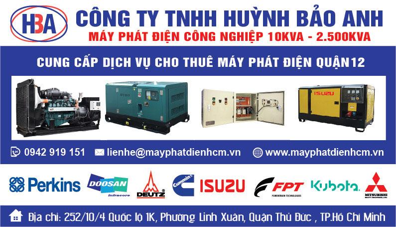 Mua bán cho thuê máy phát điện tại quận 12 và nội thành Hồ Chí Minh