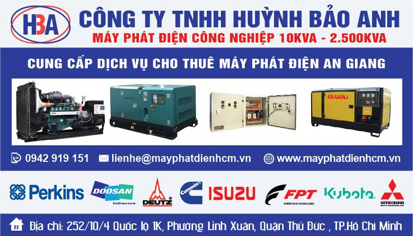 Dịch vụ cho thuê máy phát điện tại An Giang và các tỉnh thành lân cận.
