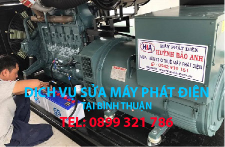 Dịch vụ sửa máy phát điện tại Bình Thuận và các tỉnh thành lân cận