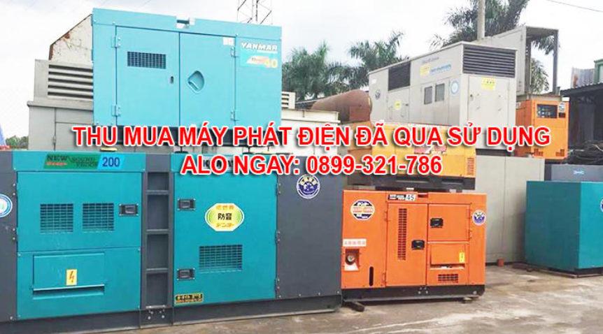 Thu mua máy phát điện cũ tại Long An