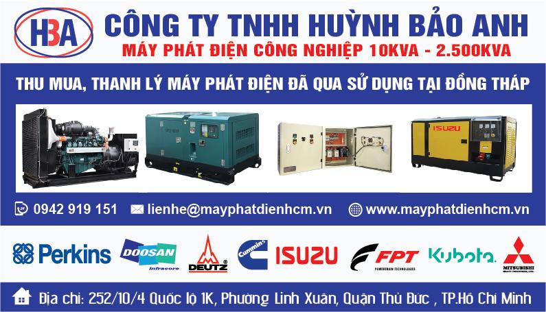 Thu mua máy phát điện cũ tại Đồng Tháp và các tỉnh thành lân cận