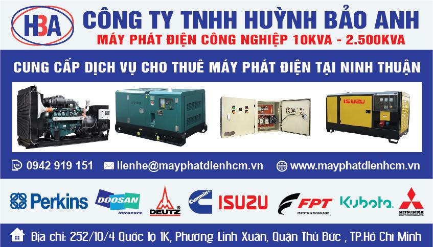 Cho thuê máy phát điện tại tỉnh Ninh Thuận và các tỉnh thành lân cận