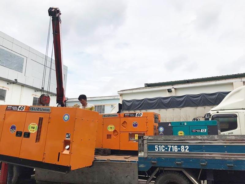 Cung cấp lắp đặt 3 tổ máy phát điện Denyo cho công ty vận tải đóng tàu Minh Đức