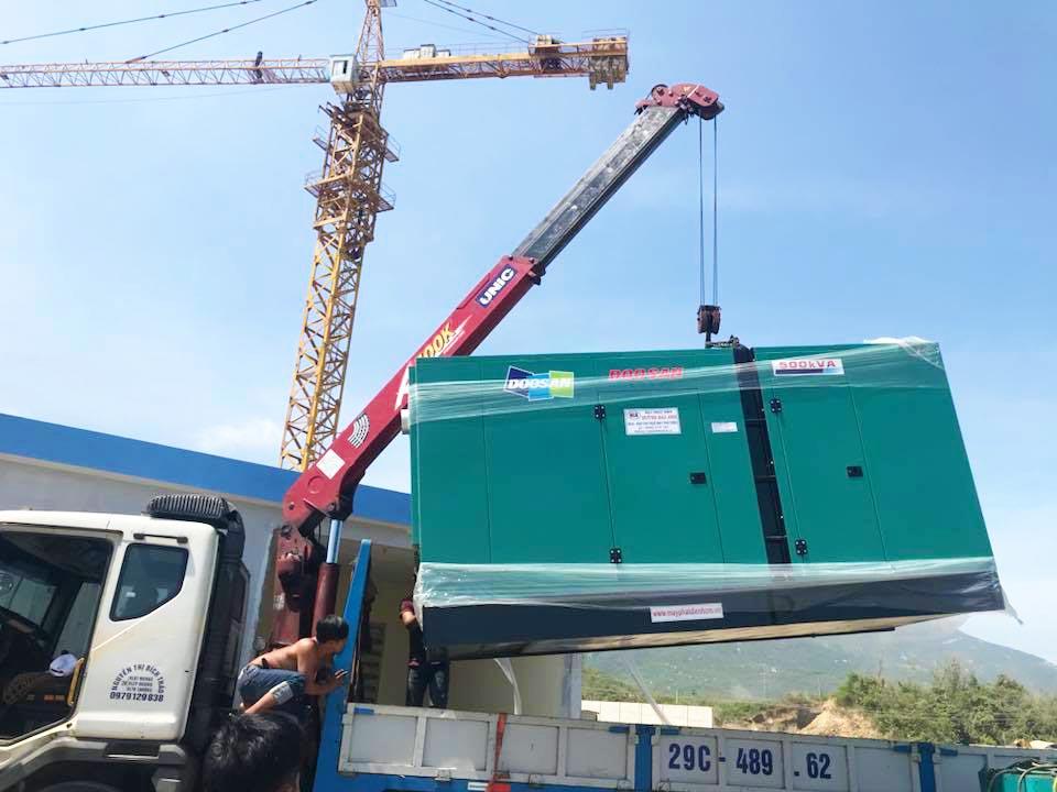 Cung cấp lắp đặt tổ máy phát điện Doosan 500kVA cho công ty Hà Châu, Khánh Hoà