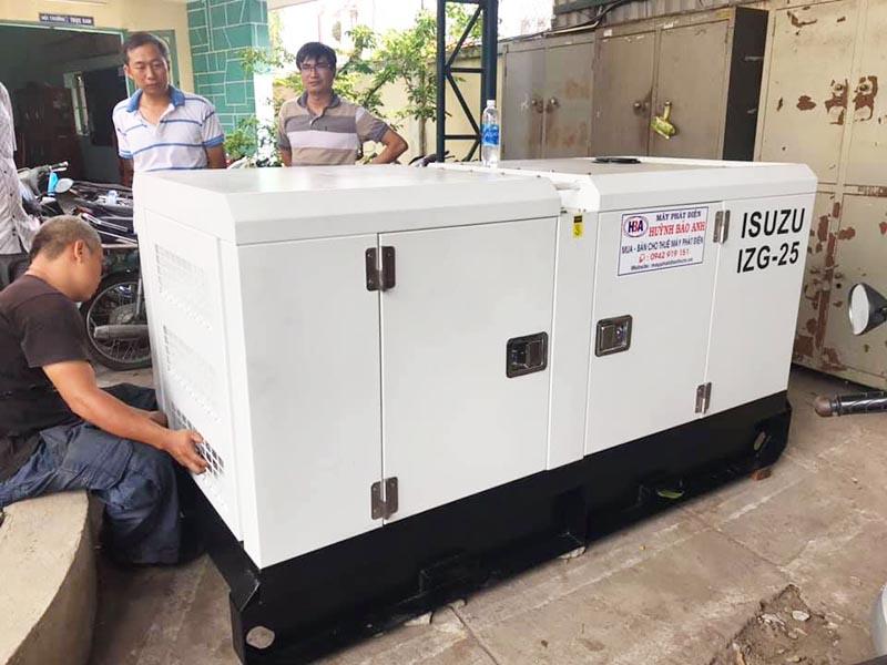 Cung cấp lắp đặt máy phát điện Isuzu 22kva cho cục phòng chống ma tuý Bình Dương