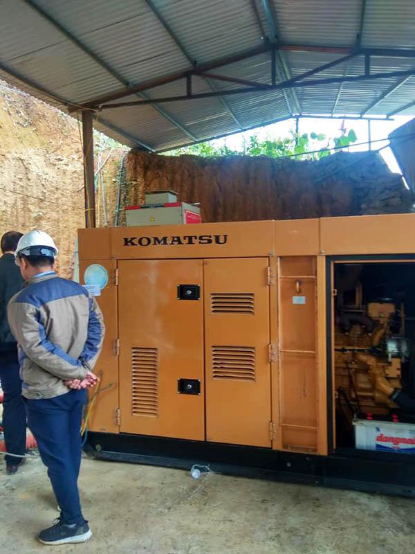 Cung cấp lắp đặt máy phát điện Komatsu 100kVA cho than khoán sản TKV Lào Cai