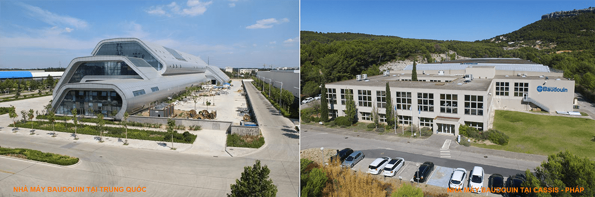 Nhà máy sản xuất động cơ Baudouin tại Trung Quốc và Pháp