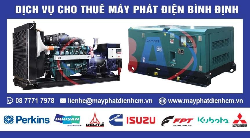 Dịch vụ cho thuê máy phát điện tại Bình định và các tỉnh lân cận
