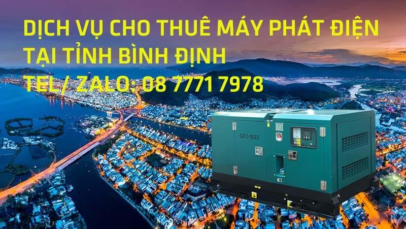 Cho thuê máy phát điện tại Bình Định
