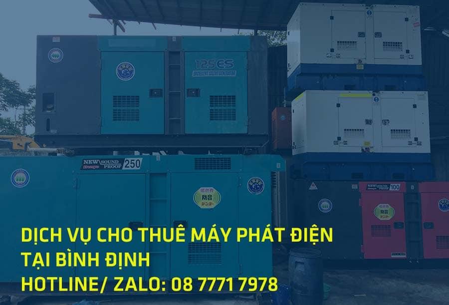 Dịch vụ cho thuê máy phát điện tại Bình Định